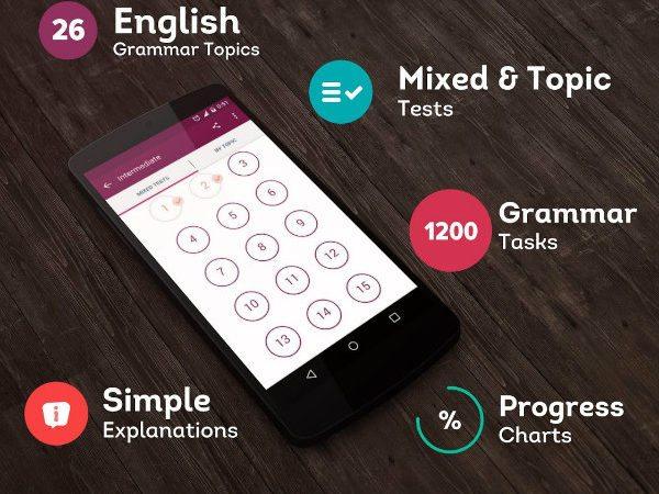 تقویت گرامر در یادگیری زبان انگلیسی با اپلیکیشن English Grammar Test