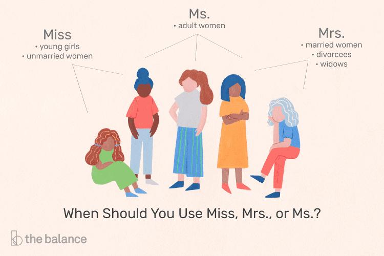 تفاوت Miss-Mrs-Ms-Mr-Sir